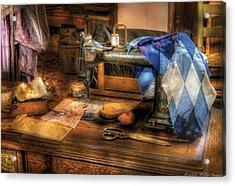 Sewing Machine  - Sewing Machine IIi Acrylic Print by Mike Savad