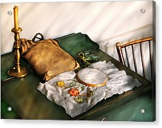 Sewing - Needle Point  Acrylic Print by Mike Savad