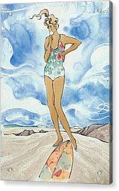 Sex Wax Acrylic Print by Harry Holiday