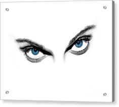 Sexy Blue Eyes  Acrylic Print by Jt PhotoDesign