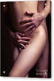 Sexy Nude Couple Embracing Acrylic Print by Oleksiy Maksymenko