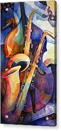 Sexy Sax Acrylic Print by Susanne Clark