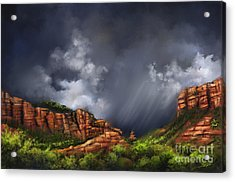 Weather Acrylic Print featuring the painting Sedona by Susi Galloway