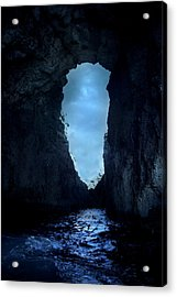 Shadowy Grotto - Malta Acrylic Print by Cambion Art