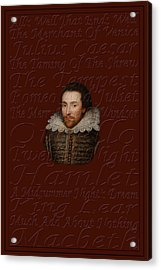 Shakespeare Acrylic Print by Andrew Fare