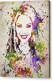 Shakira In Color Acrylic Print by Aged Pixel