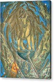 Shaman Spirit Acrylic Print by Kim Jones