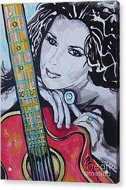 Shania Twain Acrylic Print by Chrisann Ellis
