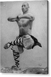 Shaolin Monk Acrylic Print by Vishvesh Tadsare