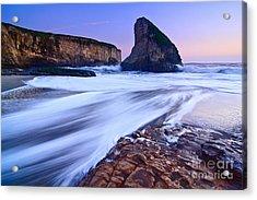 Shark Fin Tide - Santa Cruz California Acrylic Print by Jamie Pham
