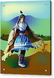 Shawl Dancer 1 Acrylic Print by Kae Cheatham