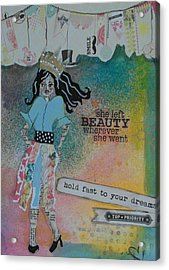 She Left Beauty Acrylic Print by Debbie Hornsby