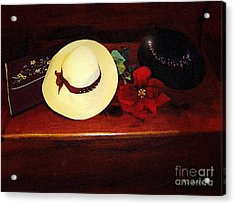 She Loved Hats Acrylic Print by RC DeWinter