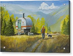 Sheep Camp Acrylic Print by Jerry McElroy