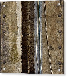 Sheetmetal Strings Acrylic Print by Carol Leigh