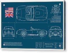 Shelby American 427 Cobra Blueplanprint Acrylic Print by Douglas Switzer