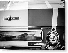 Shelby Cobra G.t. 500 Rear Emblems -0036bw Acrylic Print by Jill Reger