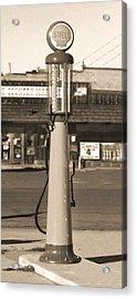 Shell Gas - Wayne Visible Gas Pump 2 Acrylic Print by Mike McGlothlen