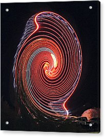 Shell Swirl Acrylic Print by Marian Bell