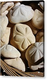 Shells By The Basket Full Acrylic Print by Bruce Bley