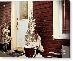 Shelter From The Storm - Blizzard - Snow Storm Acrylic Print by Barbara Griffin