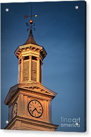 Shepherd University - Mcmurran Clock Tower At Twilight Acrylic Print by Julia Springer