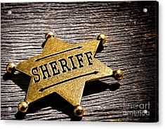 Sheriff Badge Acrylic Print by Olivier Le Queinec