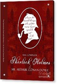 Sherlock Holmes Book Cover Poster Art 1 Acrylic Print by Nishanth Gopinathan