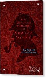 Sherlock Holmes Book Cover Poster Art 4 Acrylic Print by Nishanth Gopinathan