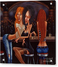Sherry Chambord And Cognac -  Girls Night Out 1998 Acrylic Print by Larry Preston