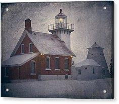 Sherwood Point Light Acrylic Print by Joan Carroll