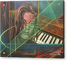 She's Got The Blues Acrylic Print by Eva Berman