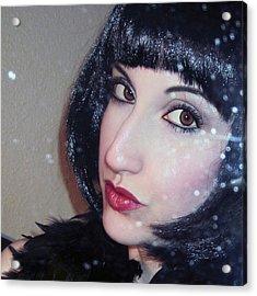 Shimmer - Self Portrait  Acrylic Print by Jaeda DeWalt