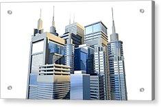 Shiny Modern City Cluster Acrylic Print by Allan Swart
