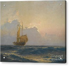 Ship At Dusk Acrylic Print by Celestial Images
