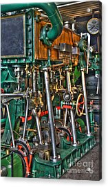 Ship Engine Acrylic Print by Heiko Koehrer-Wagner