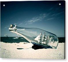Ship In The Bottle Acrylic Print by Michal Bednarek