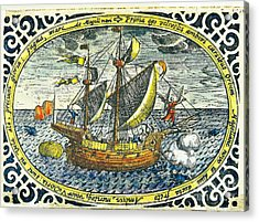 Ship Of Magellan Acrylic Print by Akg