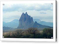 Shiprock  Mystical Mountain New Mexico Acrylic Print by Jack Pumphrey