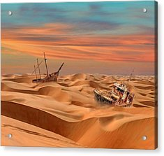 Ships Of The Desert Acrylic Print by Alex Hardie