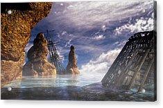 Shipwreck Acrylic Print by Bob Orsillo