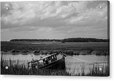 Shipwrecked  Acrylic Print by Steven  Taylor
