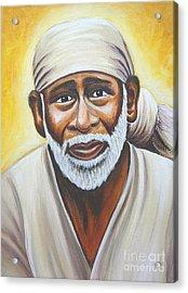 Shirdi Sai Baba Acrylic Print by Gayle Utter