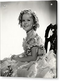 Shirley Temple Portrait Acrylic Print by Georgia Fowler