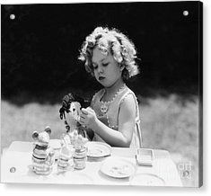 Shirley Temple Tea Party With Doll Acrylic Print by MMG Archives