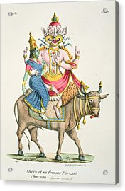 Shiva And Parvati, Engraved By De Marlet Acrylic Print by A. Geringer