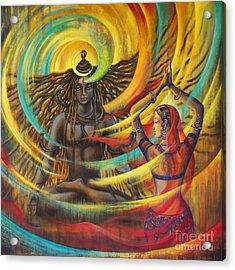 Shiva Shakti Acrylic Print by Vrindavan Das