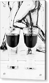 Shoot Glasses Acrylic Print by Toppart Sweden