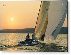 Shooting The Breeze - Lake Geneva Wisconsin Acrylic Print by Bruce Thompson