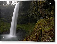 Shooting The Falls Acrylic Print by Nick  Boren